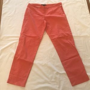 Theory bright pink summer cotton pants, size 4